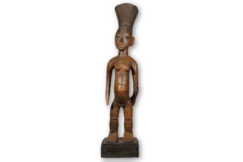 "Mangbetu Figure / Statue 47.5"" with base - DRC"