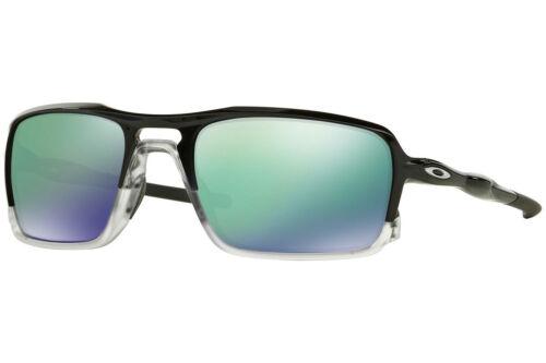 Oakley TRIGGERMAN Sunglasses OO9266-02 Polished Black Frame W/ Jade Iridium Lens