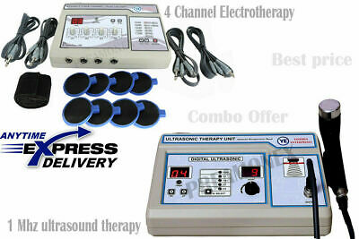 Combo Ultrasound Therapy 1 Mhz And 4 Channel Electrotherapy Unit Cb1f