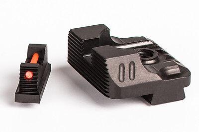 ZEV Technologies Sight Set  .215 Fiber Optic Front & Combat v3 Black Rear (Front Sight Set)