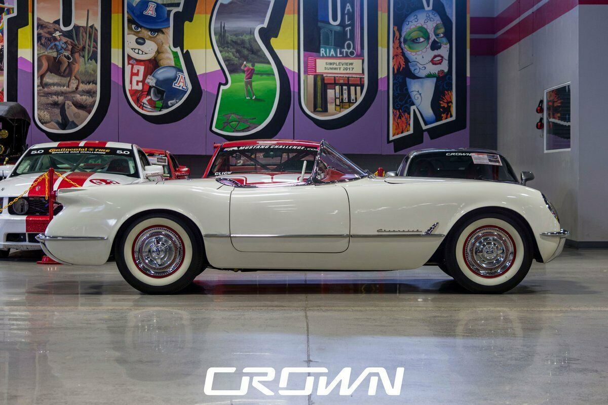 1954 White Chevrolet Corvette   | C1 Corvette Photo 2