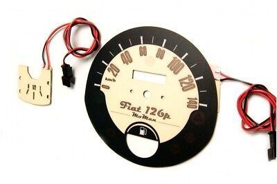 Fiat Seicento RPM dial design 1 glow gauge plasma dial tachoscheibe glow