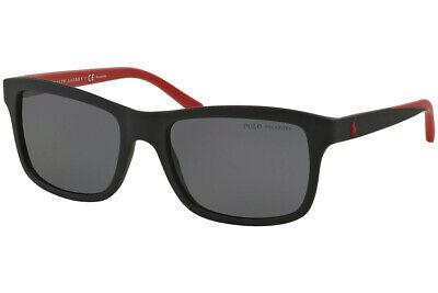 Polo Ralph Lauren PH4095 5504/81 Men's Sunglasses Black/Red Polarized (Polo Ralph Lauren Sunglasses For Men)