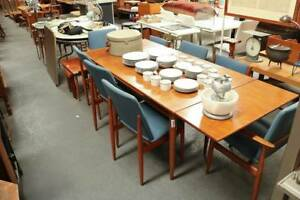 Mid Century Parker Teak Extension Dining Table and Chairs