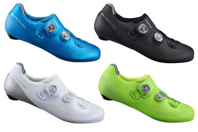 New 2019 Shimano SH-RC901-E Wide S-Phyre Carbon Fiber Road Cycling Shoes Blue