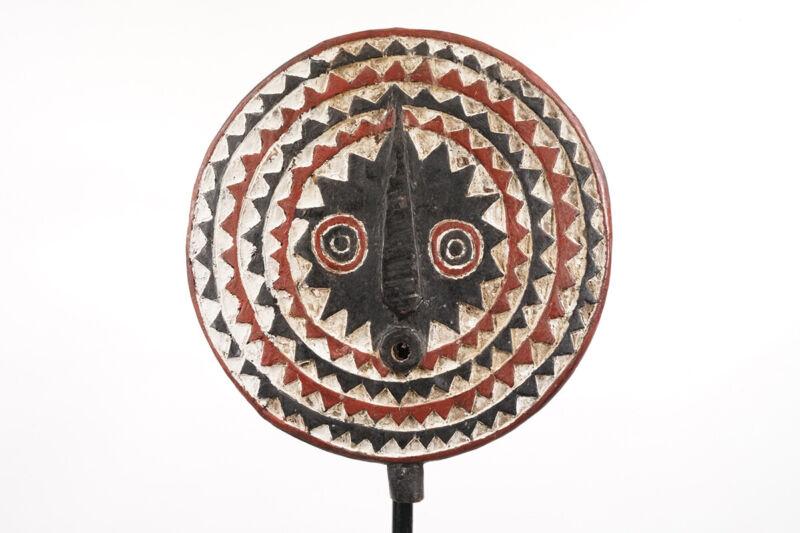 """Colorful Bwa Sun Mask 17.5"""" - Burkina Faso - African Art"""
