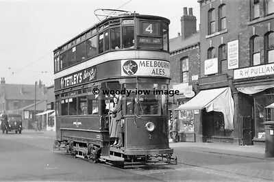 a0226 - Leeds Tram no 2 in Kirkstall Road , Yorkshire - photograph