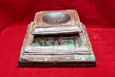 New Wooden Table Candle Stand Vintage Carved Decorative Collectible BF-82