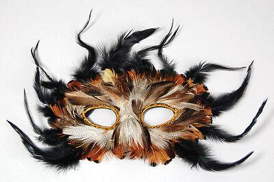 # Erwachsene Eule Feder Augen Maske Kostüm Verkleidung Zubehör Karneval