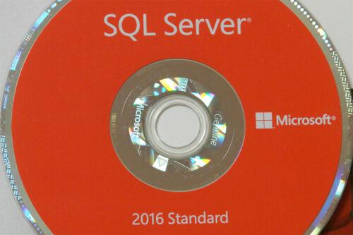SQL Server 2016 Standard Edition 24 Core Processor License Unlimited USERS CAL
