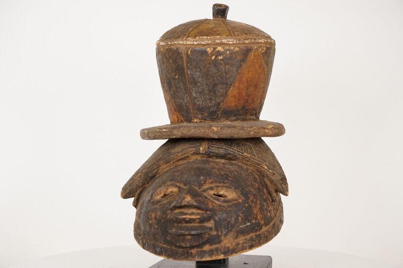 "Timeworn Yoruba Gelede Mask 12"" - Nigeria - African Art"