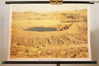 Schulwandkarte Role Map Wall Chart Africa Kraterlandschaft Marra Mountain Sahara