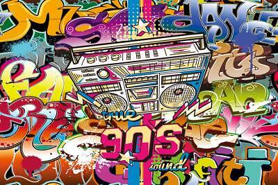90's theme Party Background Graffiti Photography Backdrops Photo for Studio Prop](90s Props)