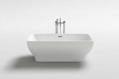 """Modern Luxurious 1001NOW Como 67"""" White Acrylic Bathtub"""