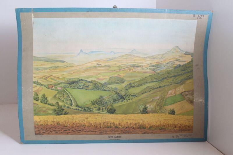 Old Schulwandtafel Wall Chart Der Segau Stuttgart No. 241 Schulmann Verlag 1936