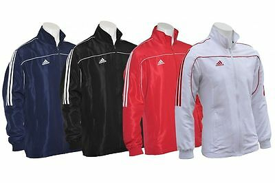 Adidas Tracksuit Top Mens Kids Jacket Sports Black Blue Red White S M L XL XXL
