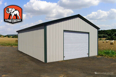 Metal Garage Building - 18 X 21 X 9