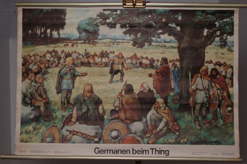 Schulwandkarte Role Map Wall Chart Germanic at The Thing Rodewald Juretschka