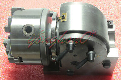 Eco Bs-0 Precision Dividing Head With 5 3-jaw Chuck Tailstock Part Bs-0