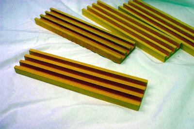 Ymi Premium Beechwood Wooden Domino Dominos Dominoes Racks Trays   Set Of 4