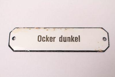 Ocher Dark Enamel Sign Colonial Pharmacy Krämmerladen Color Approx. 1900