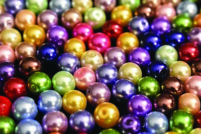 8mm Glass Pearl Round Bead, 2 Pounds BULK (Hole: 1mm)](Bulk Pearls)