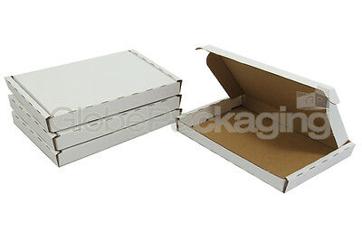 5 x WHITE PIP MAXIMUM SIZE LARGE LETTER CARDBOARD POSTAL BOXES 334x245x20mm