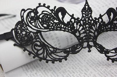 BLACK STUNNING VENETIAN LACE MASQUERADE EYE MASK HALLOWEEN PARTY - Venetian Halloween Masks Uk