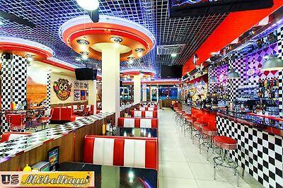 WO-24 Set US Diner Tisch 3 Stühle Bel Air Retro Look Möbel ...