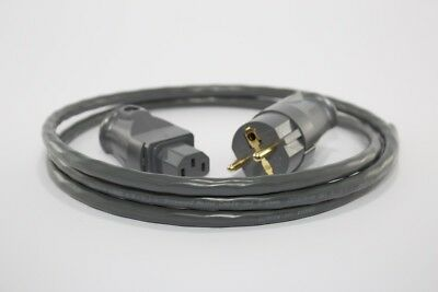 Supra LoRad 1.5 Power Cable (1.5m) with Schuko Plug & 10a IEC, Grey (DIY)