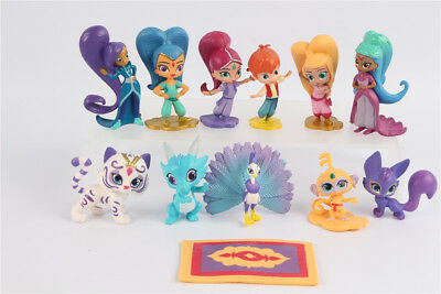 Nick Jr. Shimmer and Shine Party Favors Set of 12 Figures Kids Toys