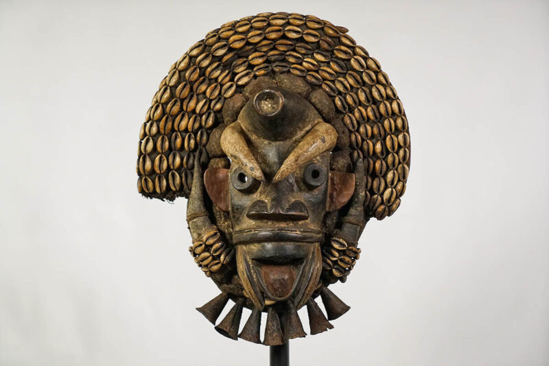"Embellished Guere African Mask 13.5"" - Ivory Coast"