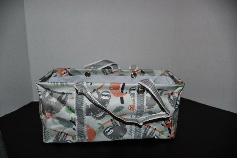 Thirty One TINY Utility Tote in Sloth Hangout NWT