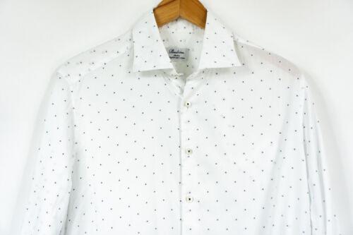 Stenstroms Slim fit shirt SlimLine TWO FOLD Super cotton White mens 16.5 42