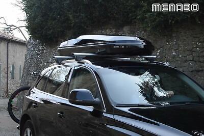 Kofferraum Dach 450L Menabo Diamond 450 Black Farbe Schwarz Glänzend