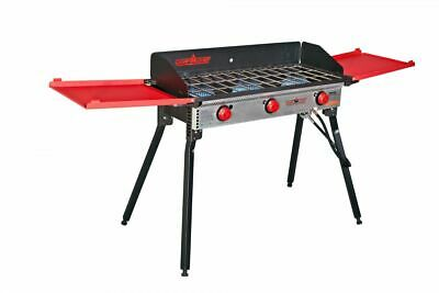 Camp Chef Pro 90X - 3 Burner Stove, Black and Red, PRO90X Base Camp Stove