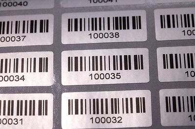 1000 GARANTIESIEGEL mit Barcode - Seriennummer 25 x 15 MM