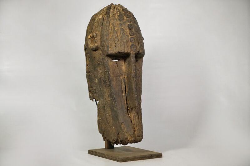 "Timeworn Bamana Mask on Custom Stand 25""- Mali - African Art"