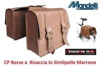 0215 - Coppia Borse A Bisaccia In Similpelle Marrone Per Bici 26-28 Condorino -  - ebay.it