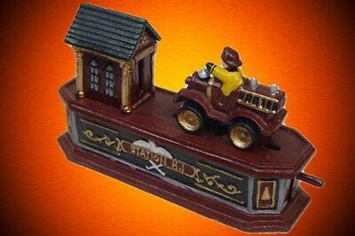 Feuerwehr mechanische Spardose Weihnacht Geschenk Vintage DekoSammler Spielzeug