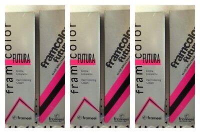 6 Framesi Framcolor  FUTURA Permanent Hair Color 1 - 7   YOUR CHOICE  slvr bx