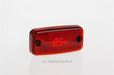 LED UMRISSLEUCHTE - REFLEKTOR MIT 4 LED - ROT - 110 x 54 MM