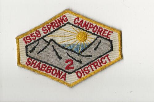 RAINBOW COUNCIL / 1958 CHIEF SHABBONA  * 2 * patch - Boy Scout BSA A132/7-4