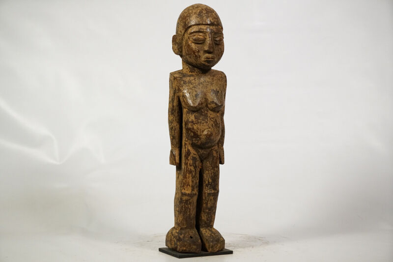 "Female Lobi Statue on Custom Base 19.5""-Burkina Faso- African Art"