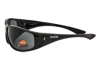Bolle Sunglasses Highwood Shiny Black Frame TNS Lens 12021 - Authorized Dealer
