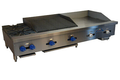 Comstock-castle Fhp60-24t-2rb 60 Countertop Gas Griddle Charbroiler