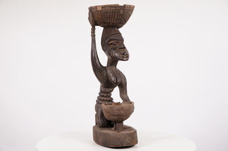 "Unique Yoruba Offering Figure 20.5"" - Nigeria - African Art"