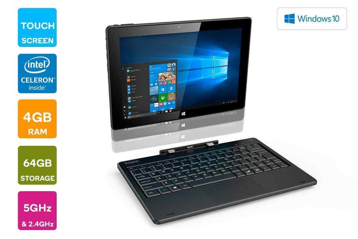 "Laptop Windows - Kogan Atlas 10.1"" 2-in-1 D500 Touchscreen Laptop with Windows 10 Pro 🌟✅"
