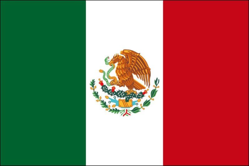 3x5 ft MEXICO Country Flag Outdoor Print Nylon Made in USA