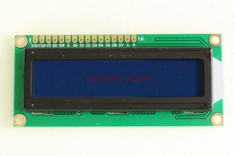 2x HD44780 LCD Module 1602 16X2 Character Display Blue Led Backlight USA